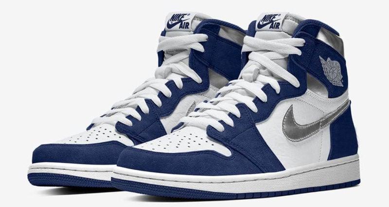 air jordan 1 white navy blue