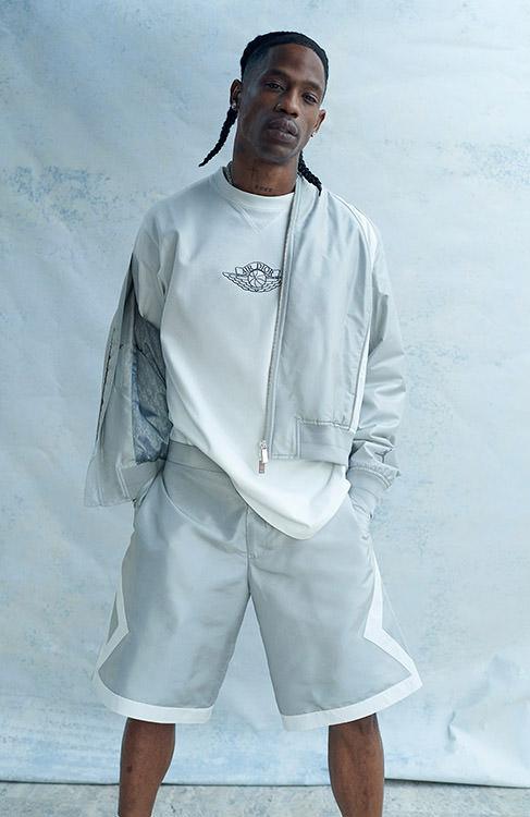 Travis Scott in Air Dior apparel
