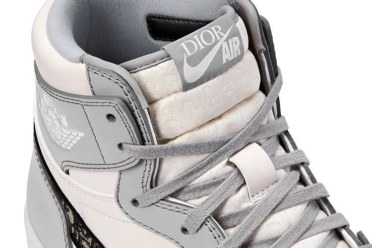 Closeup of Dior Air Jordan 1 High