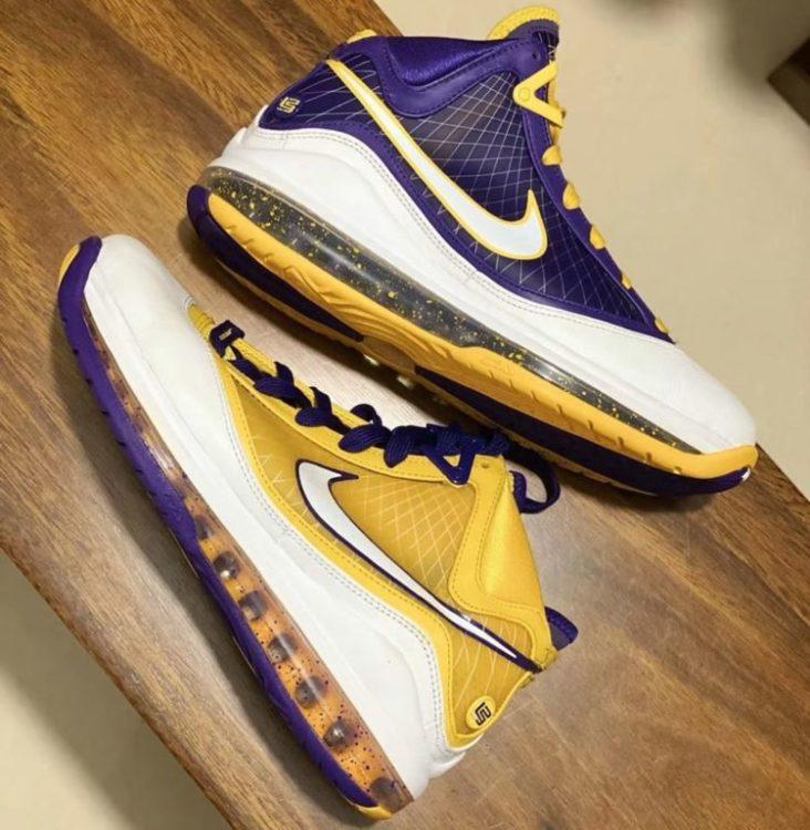 """Lakers"" Nike LeBron 7 Sample"