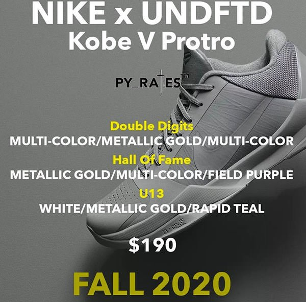 Undefeated x Nike Kobe 5 Protro Release Date