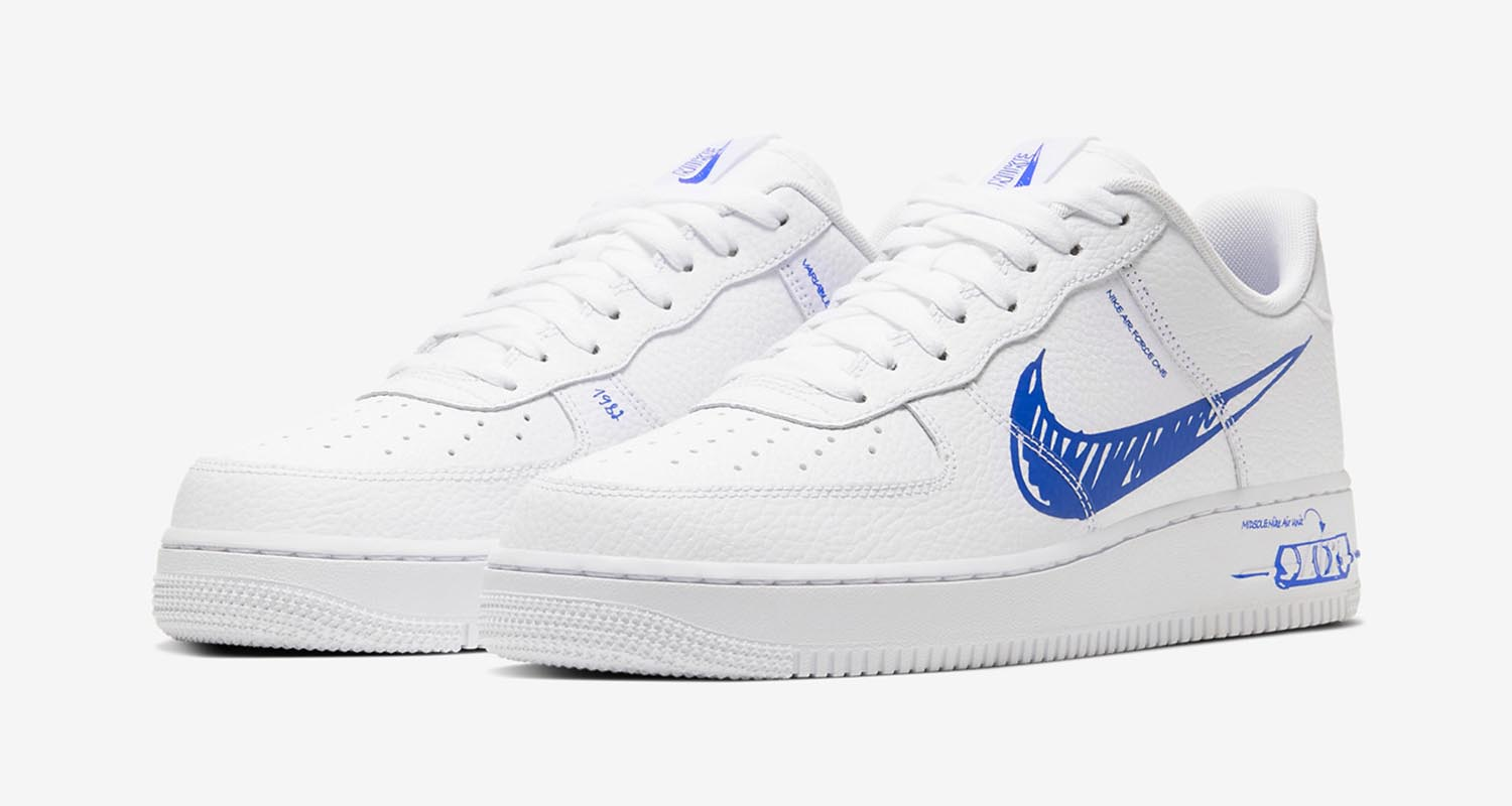 air force 1 drawn on