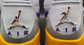 Custom Jordan 312 Honors Gigi and Kobe Bryant