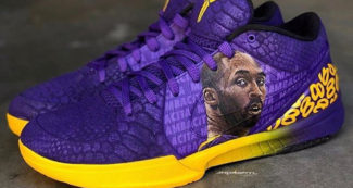 Custom Nike Kobe 4 Remembers Gianna and Kobe Bryant