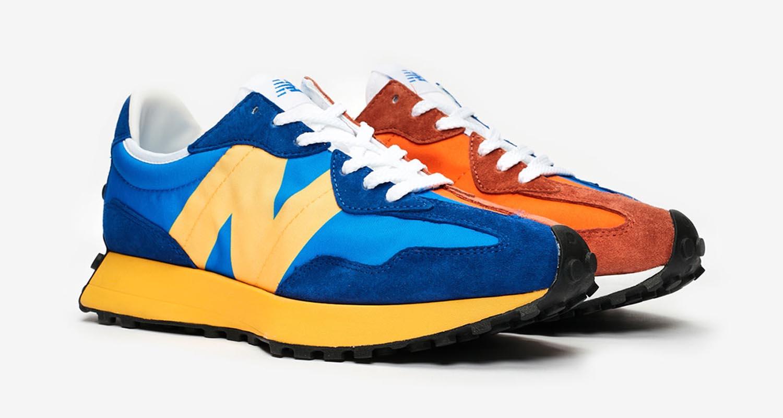Traducción Último cuatro veces  New Balance 327 Blue/Orange Split Release Date| Nice Kicks