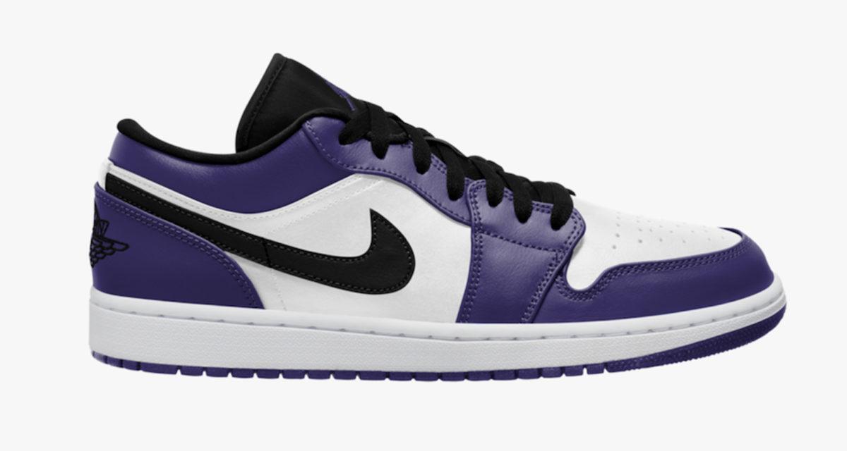 "Air Jordan 1 Low ""Court Purple"" 553558-500 Release Date | Nice Kicks"