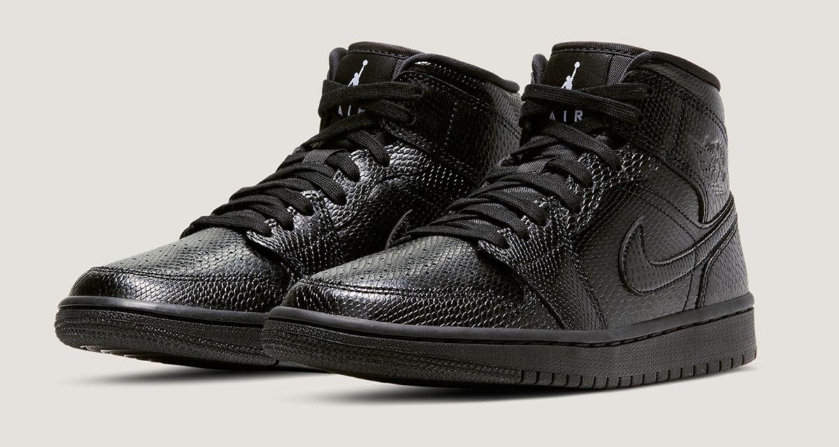 """Air Jordan 1 Mid """"Black Snakeskin"""