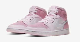 "The Air Jordan 1 Mid Blossoms in ""Digital Pink"""