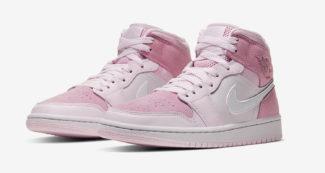 """The Air Jordan 1 Mid Blossoms in """"Digital Pink"""""""