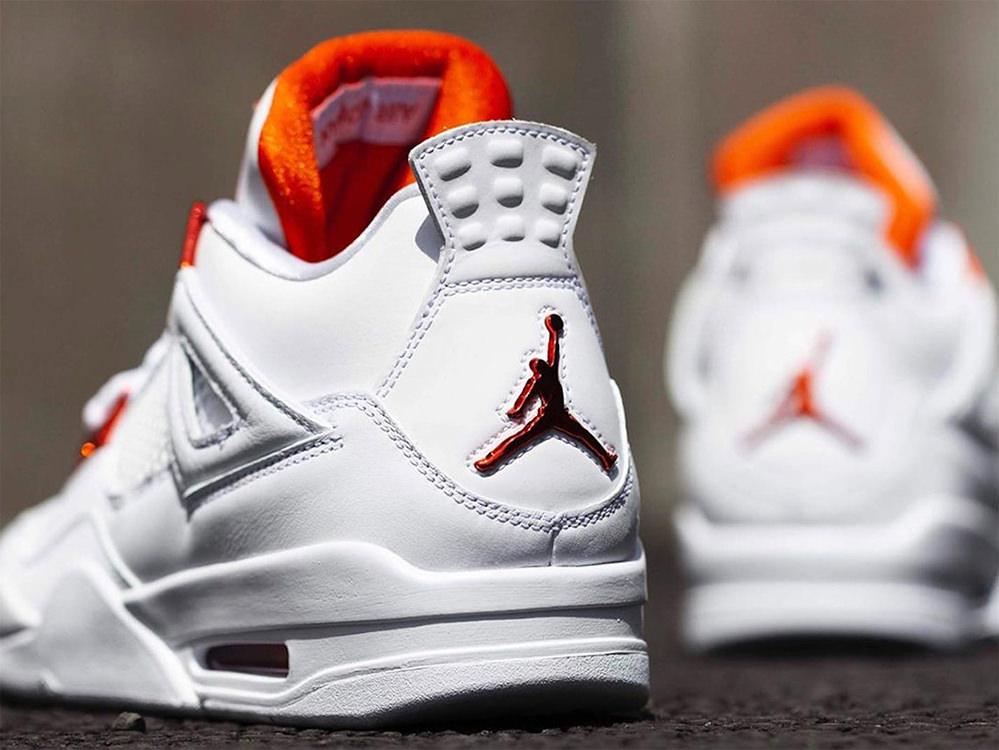 air jordan 4 orange metallic