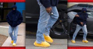 Kanye Wearing adidas Yeezy Season 8 Boots