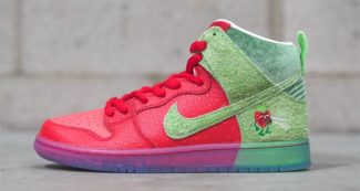 "A Closer Look at the Nike SB Dunk High ""Strawberry Cough"""