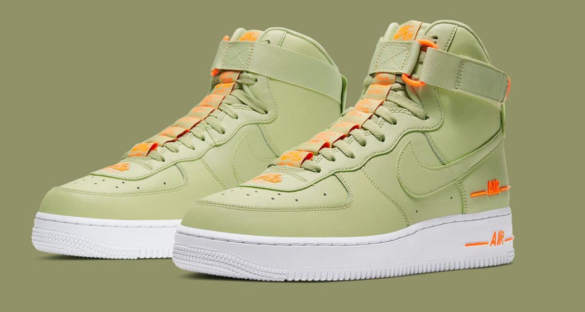 "También híbrido Multitud  Nike Air Force 1 High '07 LV8 ""Olive Aura"" CJ1385-300 Release Date ..."