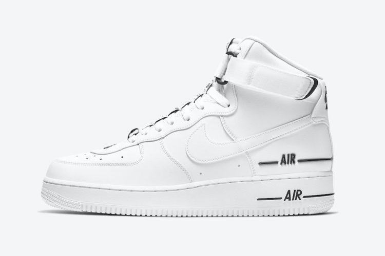 Nike Air Force 1 High 07 Lv8 3 White Black Cj1385 100 Release