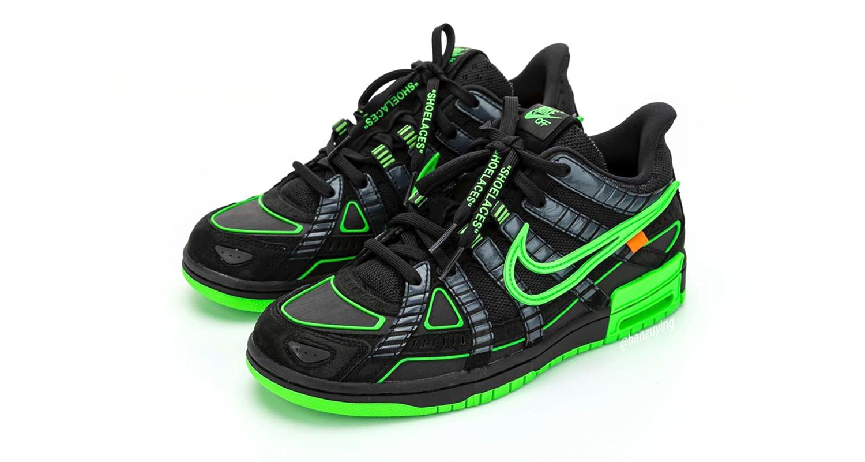 "Off-White x Nike Air Rubber Dunk ""Green Strike"""