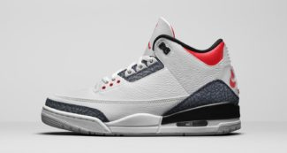 "The Air Jordan 3 Retro ""Denim Fire Red"" Gets a New Release Date"