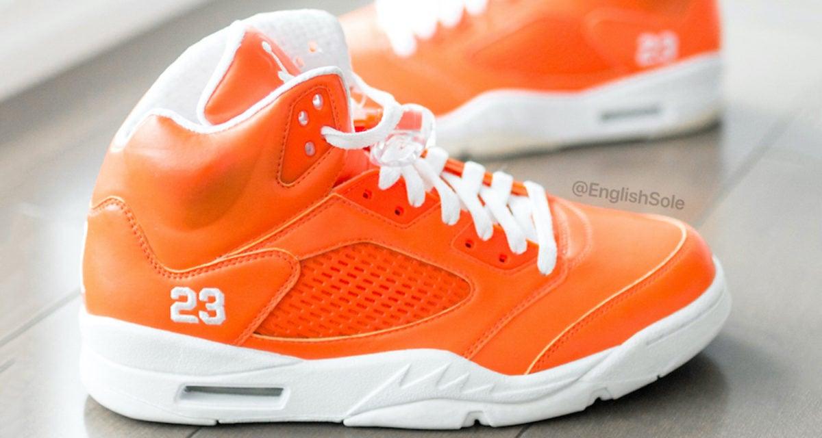 orange jordan 5