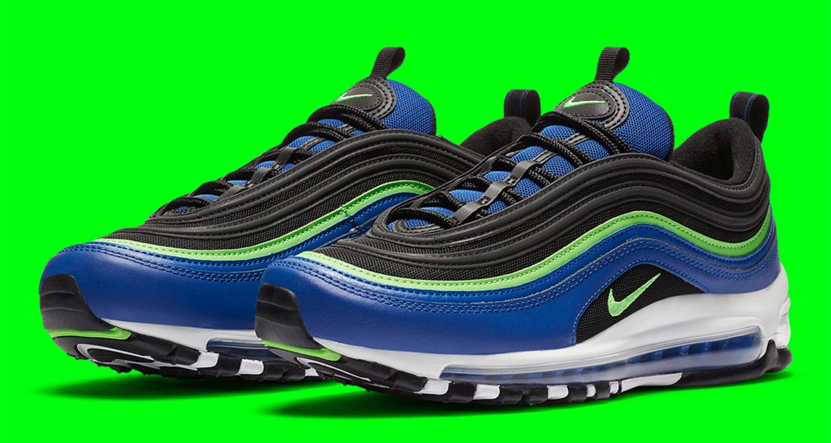Nike Air Max 97 Royal Blue Neon Cw5419 400 Release Date Nice Kicks