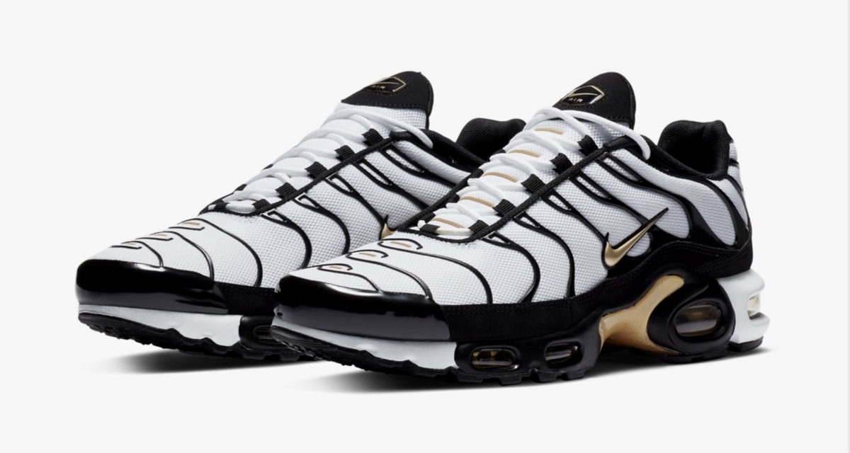 Nike Air Max Plus Black White Gold Release Date Nice Kicks