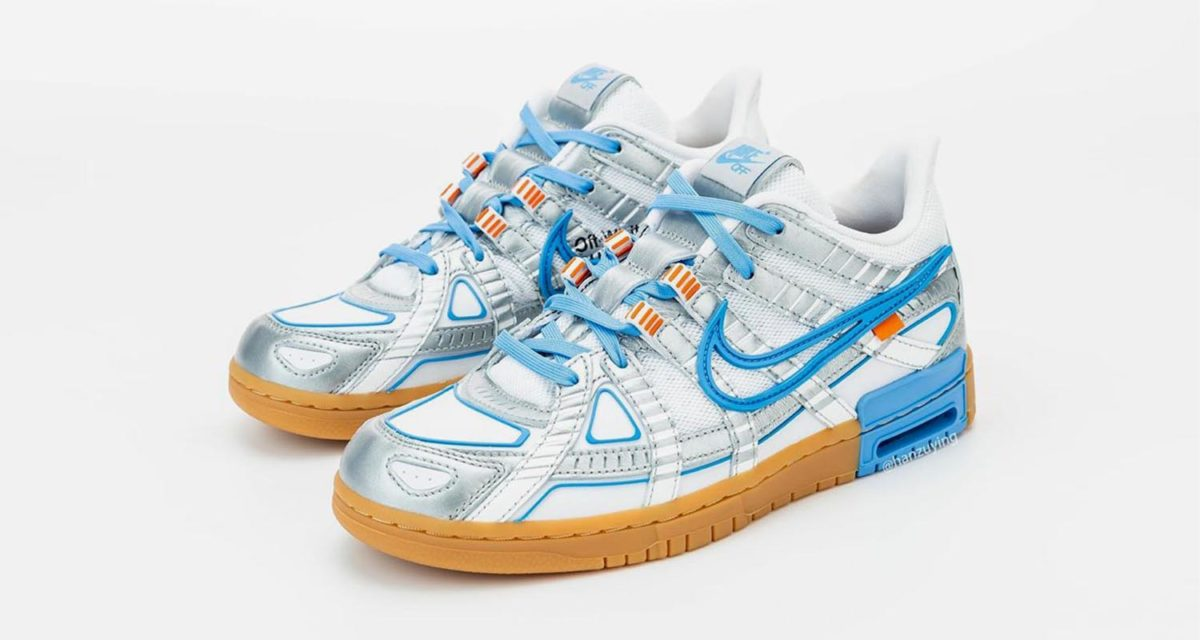 "Off-White x Nike Air Rubber Dunk ""University Blue"" CU6015-100"