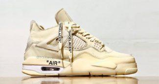 """The OFF-WHITE x Air Jordan 4 """"Sail"""" Arrives This Summer"""