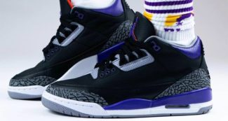"How the Canceled Air Jordan 3 ""Lakers"" Looks On-Foot"