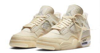 "Official Look at the Upcoming OFF-WHITE x Air Jordan 4 ""Sail"""