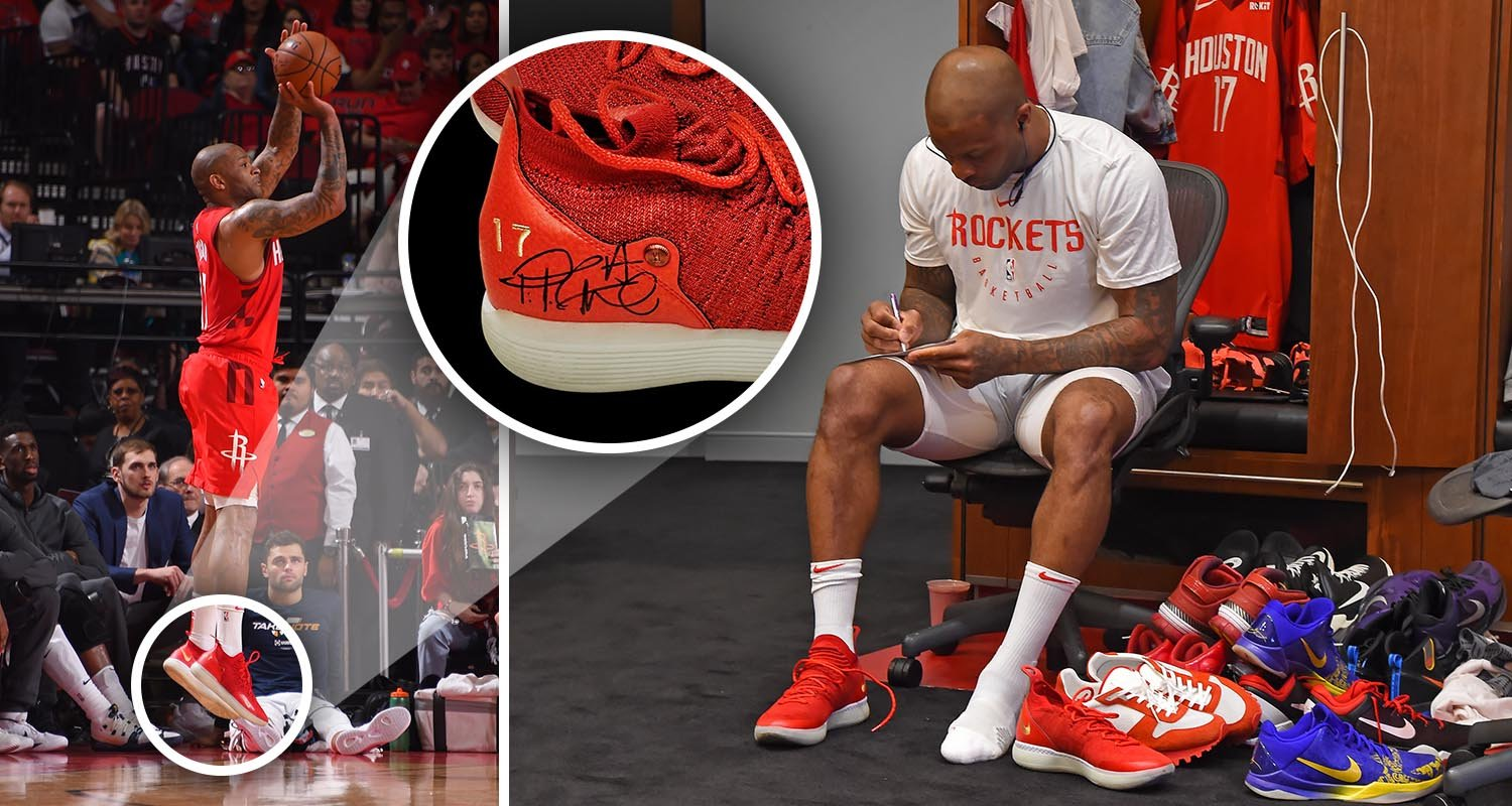 pj-tucker-houston-rockets-charity-signed-autographed-game-worn-kd-11