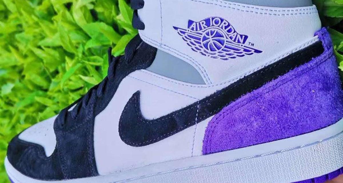 air jordan 1 purple black