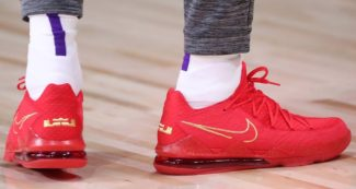 LeBron James Rocks Titan x Nike LeBron 17 Low and Another LeBron 18 Colorway