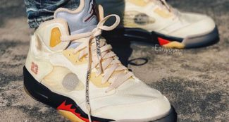 """Release Details Have Emerged on the Upcoming OFF-WHITE x Air Jordan 5 """"Sail"""""""