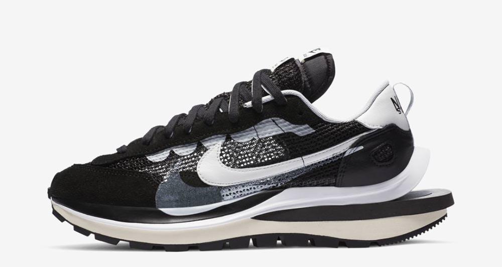 sacai x Nike Vaporwaffle Black/White CV1363-001 Release Date ...
