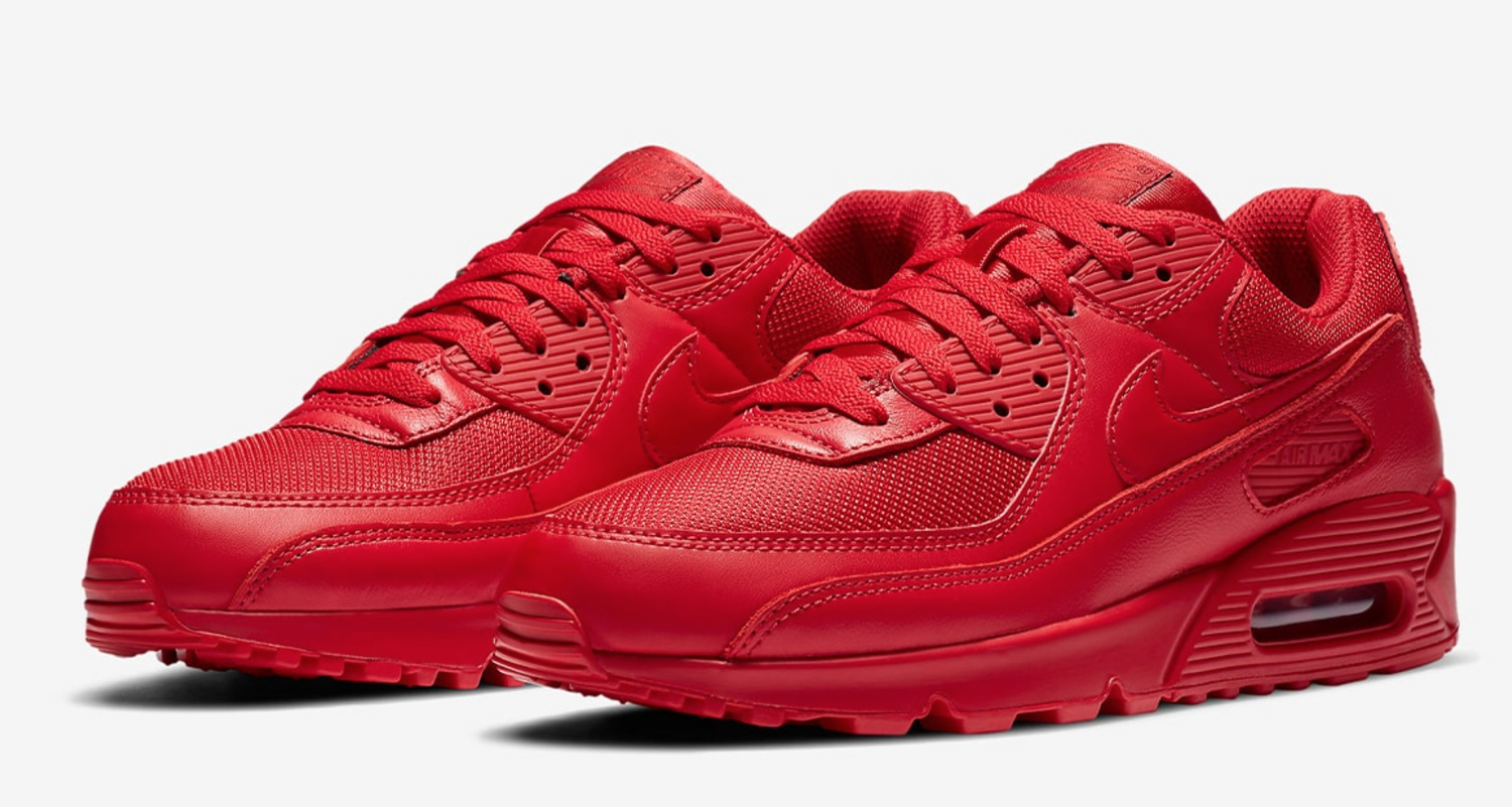 """Nike Air Max 90 """"Triple Red"""" CZ7918-600 Release Date 