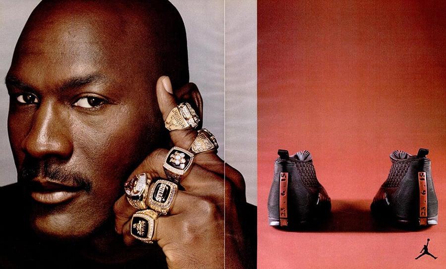 Air Jordan 15 ad Michael Jordan 6 Rings