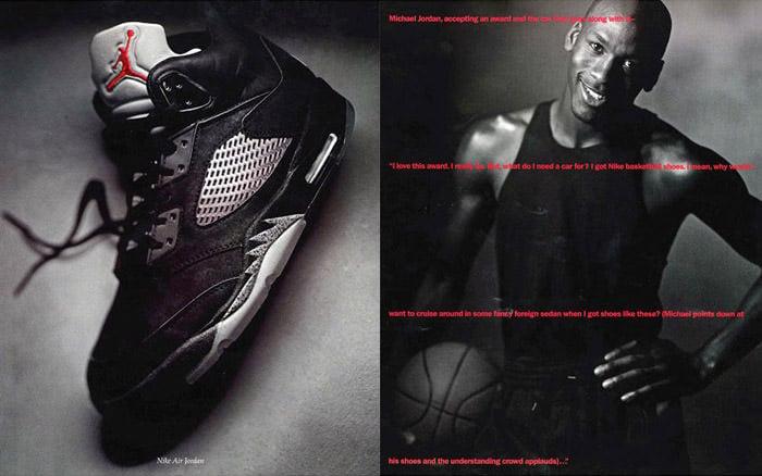 Air Jordan 5 Magazine Spread Ad 1990
