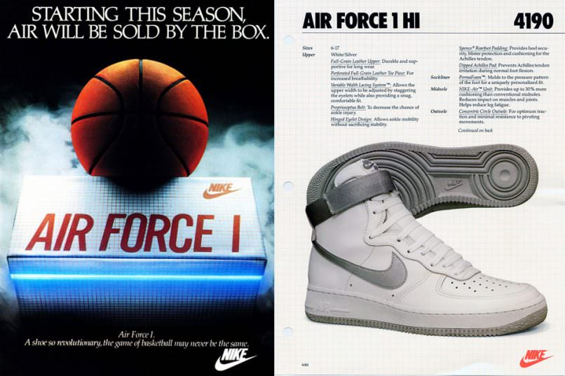 Nike Air Force 1 ad from 1982