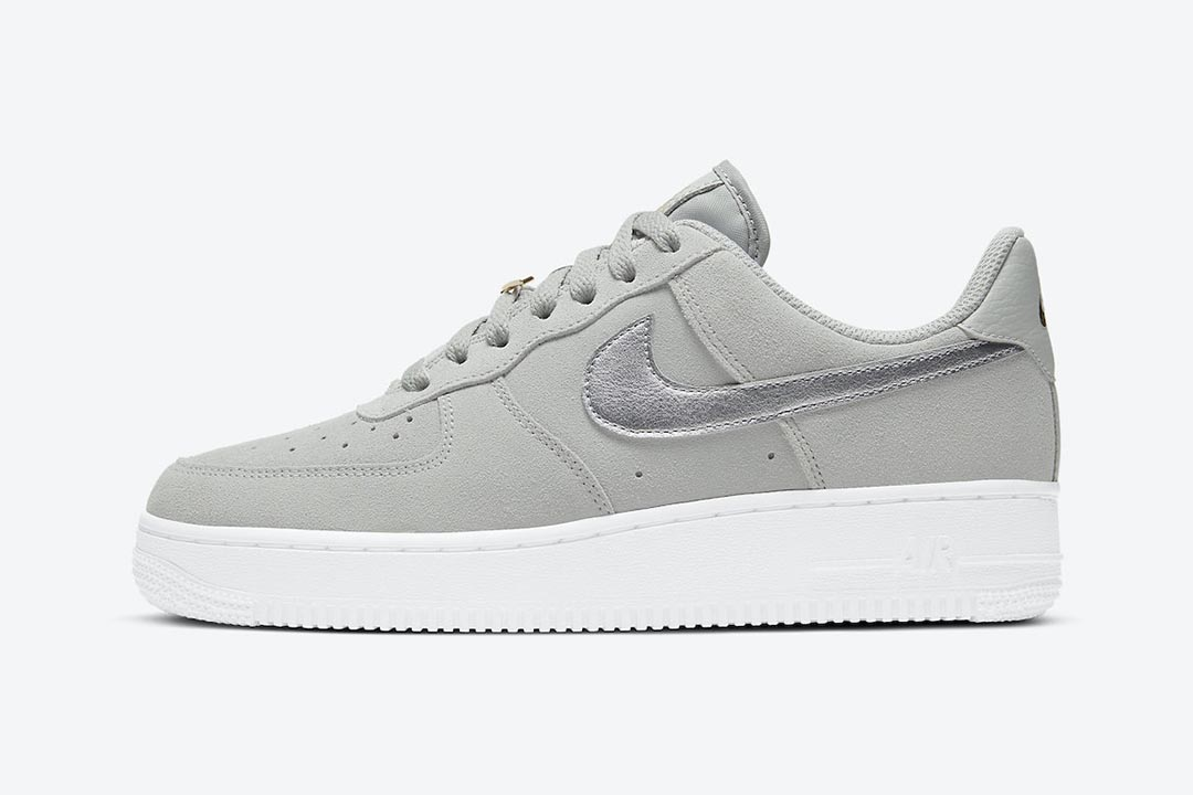 Nadie encuesta relé  The Nike Air Force 1 Low Sports a Luxe Look Featuring Gold Pendants & Suede  Uppers | Nice Kicks