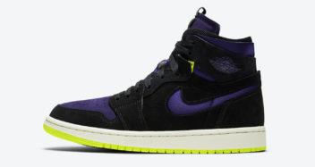 air jordan 1 high zoom black court purple lemon venom halloween