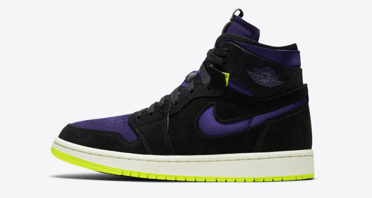 air jordan 1 high zoom black court purple lemon venom halloween
