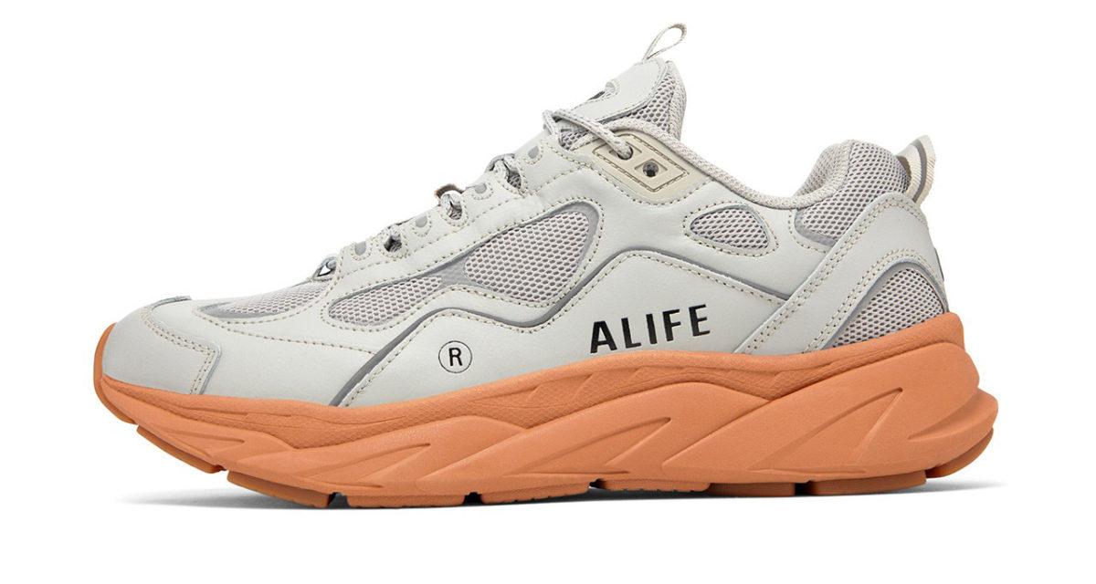 alife fila trigate grey mesh leather new york