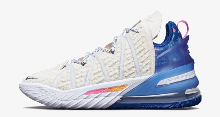 lead Nike LeBron 18 Los Angeles By Day DB8148 200 Release Date 1 736x392