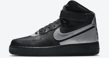 3m nike air force 1 high black silver