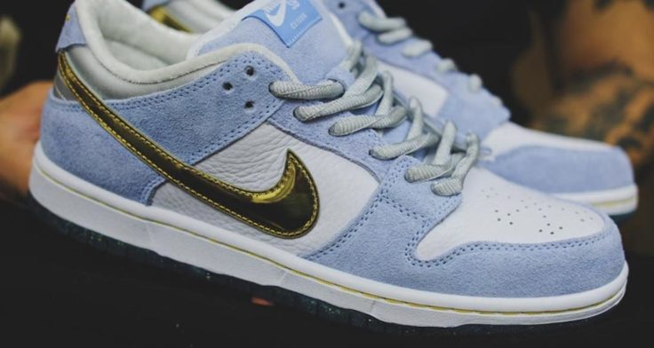 sean-cliver-nike-sb-dunk-low-white-psychic-blue-metallic-gold-DC9936-100-release-date