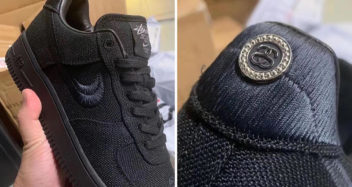 Stussy x Nike Air Force 1 Triple Black CZ9084-001