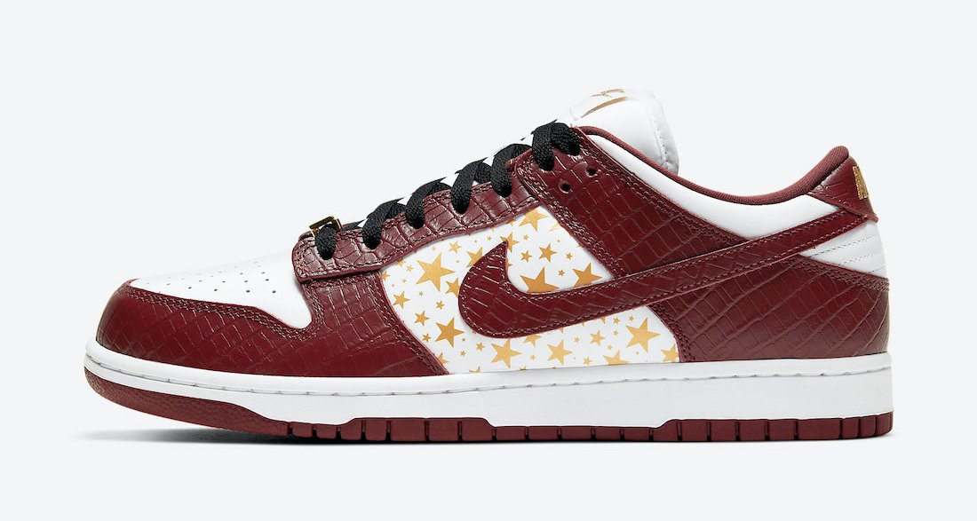 "Supreme x Nike SB Dunk Low ""Brown Stars"""