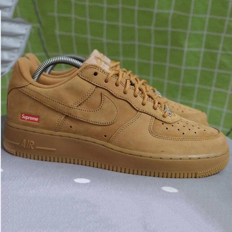 "Supreme x Nike Air Force 1 Low ""Flax"""