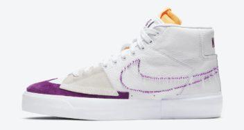 "Nike Blazer Mid Edge ""Lakers"" DA2189-100"