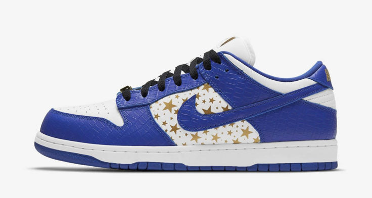 "Supreme x Nike SB Dunk Low ""Blue Stars"""