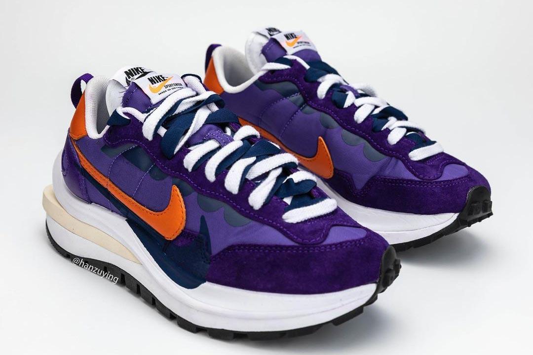 sacai x Nike VaporWaffle Dark Iris / Campfire Orange / White