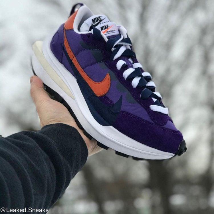 sacai x Nike Vaporwaffle Dark Iris / Campfire / White